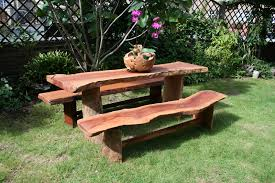 rustic wooden outdoor furniture. Furniture Rustic Wooden Garden Best Reference Table Outdoor
