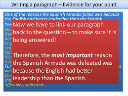 the spanish armada l o how do we write a good essay ppt video  6 writing