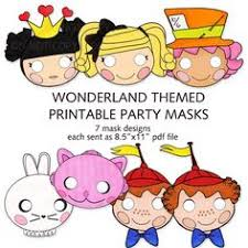 alice in wonderland masks free printable. Contemporary Printable Alice In Wonderland Printable Masks Alice Mask Cheshire White  Rabbitu2026  Patterns Pinterest Masks Costume And Party Intended In Masks Free
