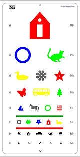 Snellen Chart Dimensions Amazon Com Pediatric Color Vision Eye Chart Size 22 X 11