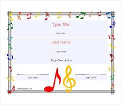 Music Gift Certificate Template Samweiss