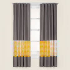 Curtains Kids Curtains Kids Grey Yellow Curtain Panels The Land Of Nod