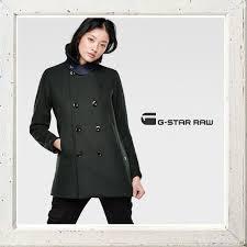 down women s g star raw pea wool relaxed coat length half p coat color khaki