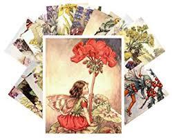Vintage Illustrations 24 Postkarten Flower Fairy By Cecile Barker Vintage Illustrations