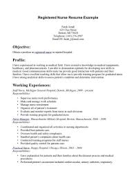 Resume Templates Example Agency Nurse Registered New Graduate Sample