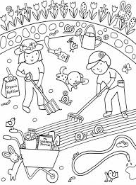 Unlimited Flower Garden Coloring Pages Printable Kids Gardening Free