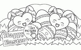 Happy Easter Eggs Coloring Page For Kids Pages Printables Inside