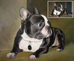 dog portrait painting pet portrait from photo