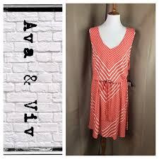 Viv Collection Size Chart Ava Viv Striped Melon Wht Slvls Dress Boutique