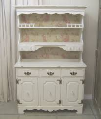 Shabby Chic Kitchen Furniture Shabby White Cottage Kitchen Hutch Chic Kitchen Hutch Antique