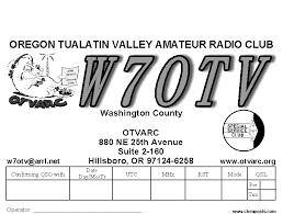 Tualitin valley amateur radio club