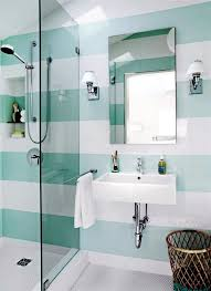 bathroom tiles. Create A Striped Pattern Small Bathroom Tile - Bright Tiles Make Your Appear Larger