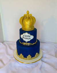 A Royal Blue And Gold Baby Shower Pillow Cake Cakes Shower Control Valve