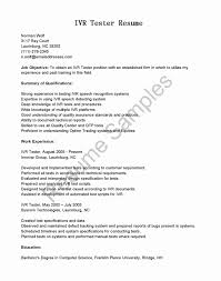 Excellent Ivr Testing Resume Pictures Inspiration Resume Ideas