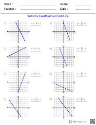 Pre-Algebra Worksheets | Linear Functions Worksheets