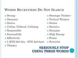 words not to use on a resumes strong power words for resume skills stand out in your job with