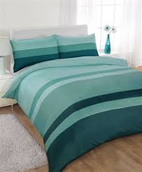 striped super king size duvet cover bed set teal green co uk kitchen home