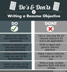 Writing A Resume Objective Custom Resume Objective Samples That Really Work