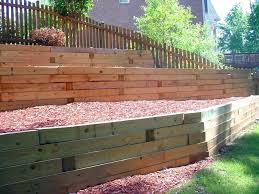 railroad ties retaining wall cost large size of for retaining wall awesome building a retaining wall