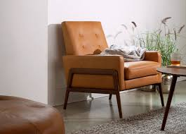 nord charme tan leather armchair