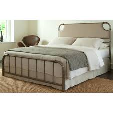 fashion bed group dahlia california king size snap bed with upholstered headboard and folding metal
