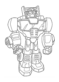 Heatwave Bot Coloring Pages For Kids