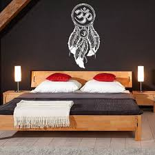 dream catcher dreamcatcher feathers hindu om symbol wall decal vinyl sticker decals bedroom home wall art on om symbol wall art with best om symbol wall decor products on wanelo