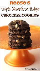 reese s triple chocolate fudge cake mix cookies