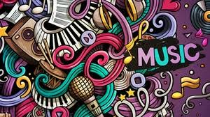 colorful music wallpapers hd. Exellent Music Preview Wallpaper Music Doodles Colorful Musical Instruments Patterns To Colorful Music Wallpapers Hd