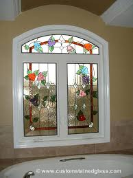 custom bathroom stained glass flower windows for home stickers depot