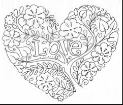 valentine hearts coloring pages. Fine Hearts Surprising Valentine Heart Coloring Pages Adults With In Hearts Fancy  Valentines And For R