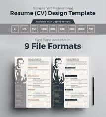 Graphic Designer Resume Pdf Free Download Cv Design Templates Free Elegant Resume Template Psd File Word 85