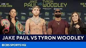 Jake Paul vs Tyron Woodley Press ...