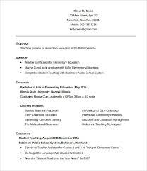 Teaching Resume Template Free Elementary Teacher 7 Word Pdf Document