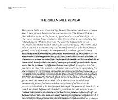 the green mile review university media studies marked by  document image preview