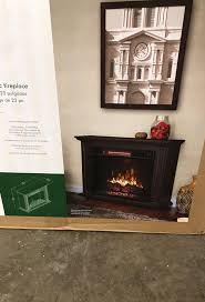 greentouch rolling mantel with 33in infrared electric fireplace