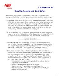resume and cover letters aarp worksearch