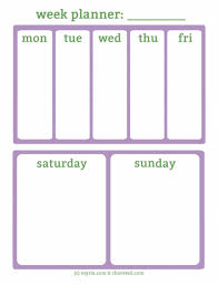 Free Printable Weekly Planners For Busy Weekends Myria