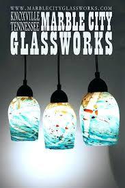 s hand blown glass pendant lights large