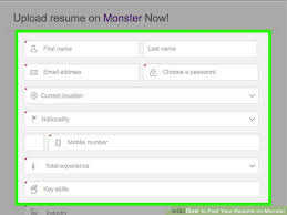 monster resume name how to post your resume on monster 15 steps with pictures