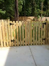 4 tall double drive picket gate and fence AAA Fence Charleston