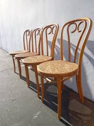 set of 4 classic bentwood ice cream parlor chairs thonet chair dining chair wood