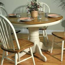 round light wood dining table round pedestal two tone dining table white burnished oak light wood