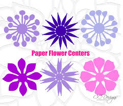 Giant Paper Flower Svg Paper Flower Centers Cut Files Set 2 Catching Colorflies