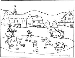 Small Picture Winter Scene Coloring Pages Printable Coloring Coloring Pages