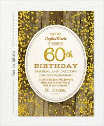 birthday invitations samples 26 60th birthday invitation templates psd ai free premium