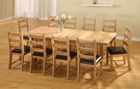 dining table 10 chairs. havana oak rectangular extending dining table \u0026 8 or 10 rectory ladder back chairs t