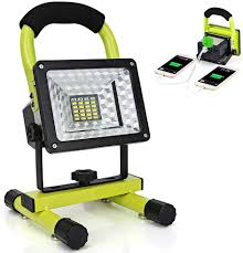 Light And Portable Led Work Light With Magnetic Stand 15w 24 Led Rechargeable Shop Light Portable Outdoor Camping Spotlights With Dual Usb Port And Emergency Sos Mode