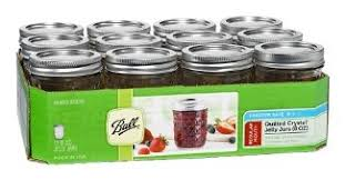 Amazon.com: Ball Mason 8oz Quilted Jelly Jars with Lids and Bands ... & Set of 12 Quilted Crystal Jelly Jars Adamdwight.com