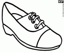Een Sportieve Schoen Comfortabele Schoen Met Veters Kleurplaat